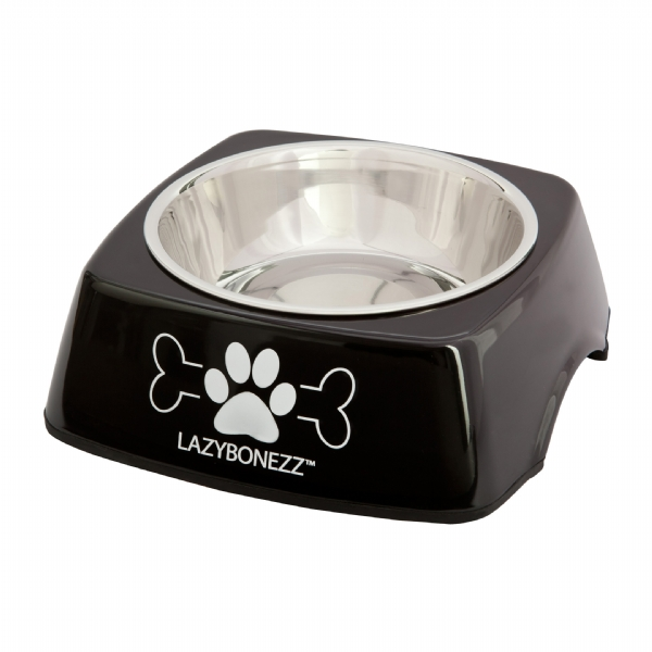 Lazybonezz Sleek Feeding Dog Dish - Black