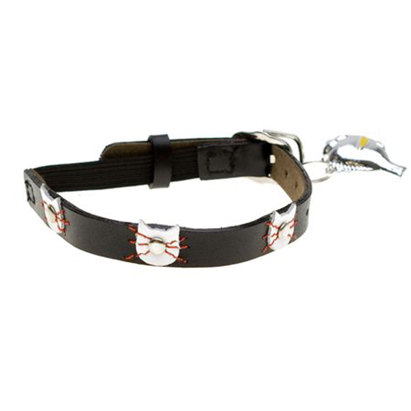 Leather Cat Collar - Felix Black