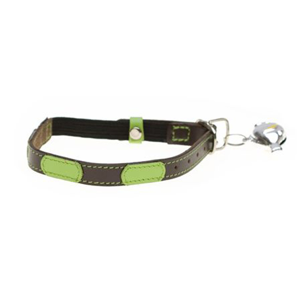 Leather Cat Collar - Togo Brown