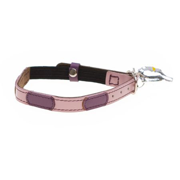 Leather Cat Collar - Togo Pink