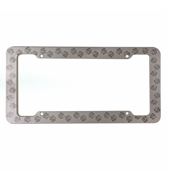 License Plate Frame - Paw Print