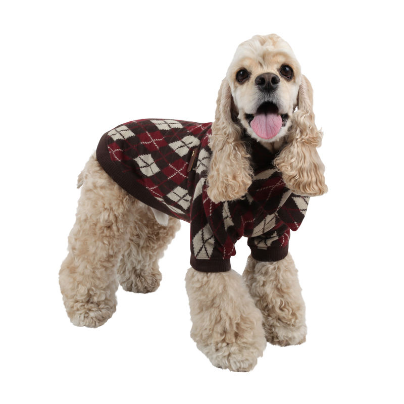 Lineage Dog Sweater Set by Puppia - Brown