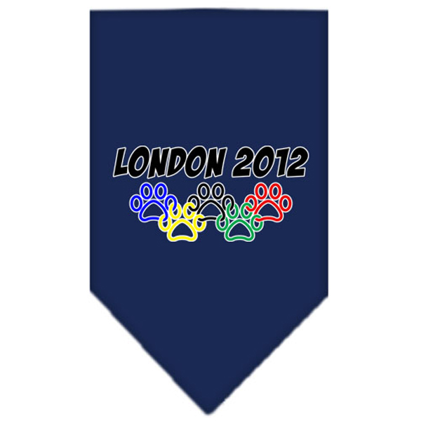 London 2012 Paws Dog Bandana - Navy Blue