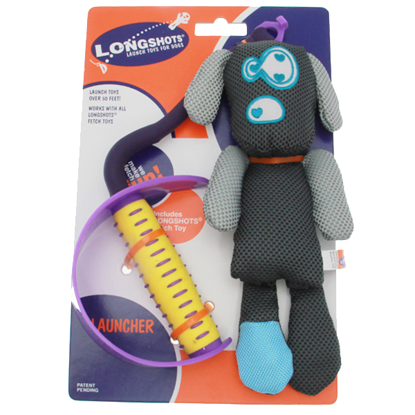 Longshots Launch Set Dog Toy - Black Moondoggie