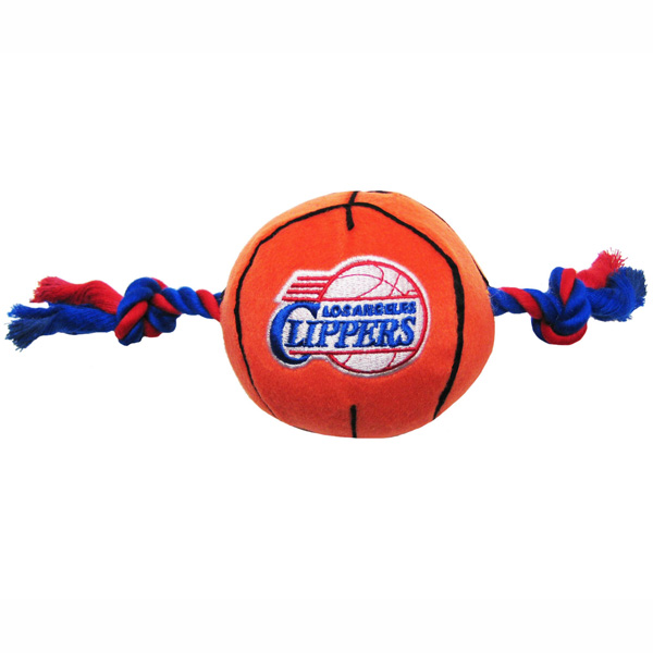 Los Angeles Clippers Basketball Dog Toy