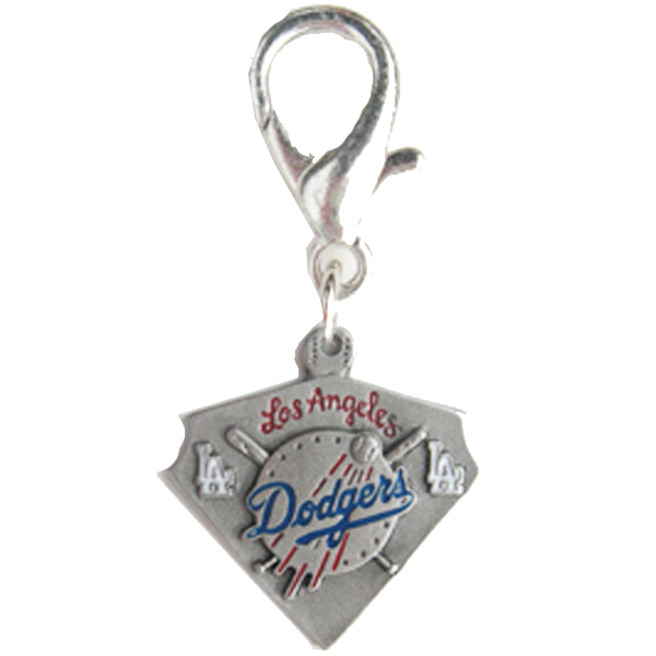 Los Angeles Dodgers Pennant Dog Collar Charm