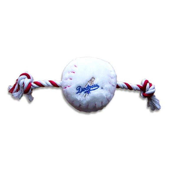 Los Angeles Dodgers Plush Baseball Rope Toy