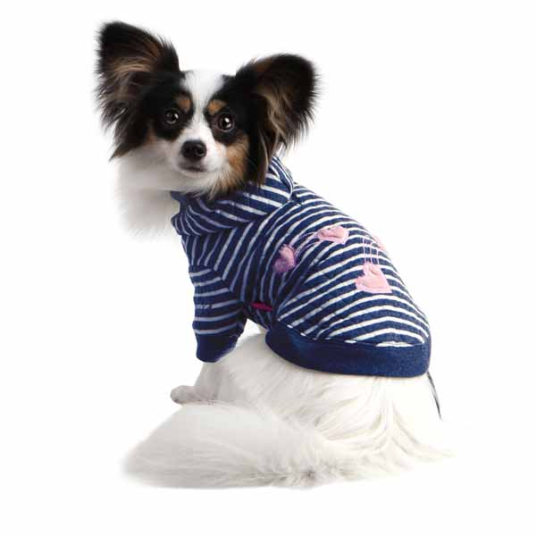Love Concert Dog Hoodie by Pinkaholic - Navy