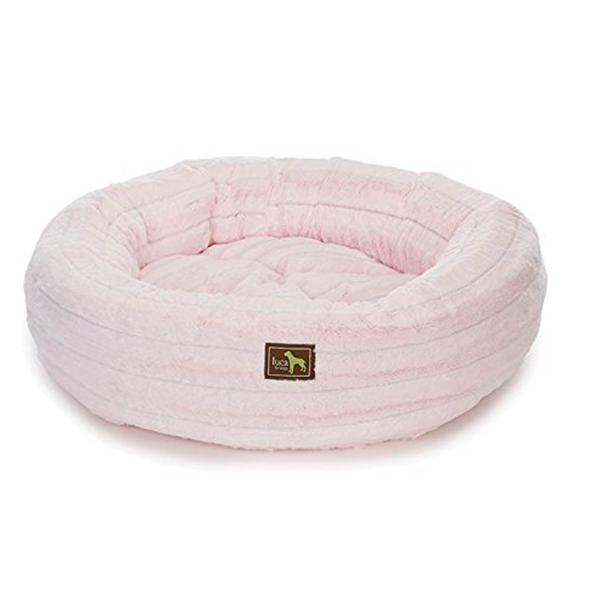 Luca Chinchilla Nest Dog Bed Baby Pink
