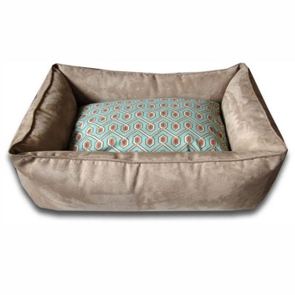 Luca Lounge Dog Bed - Camel/Diamond Back