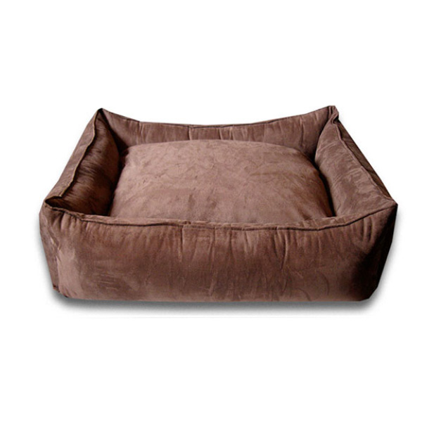 Luca Lounge Dog Bed - Chocolate/Suede