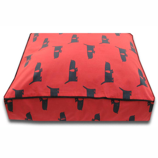 Luca Luxe Rectangle Dog Bed - Funky Mutt