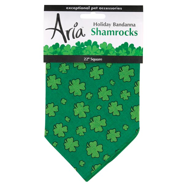Lucky Shamrock Dog Bandana
