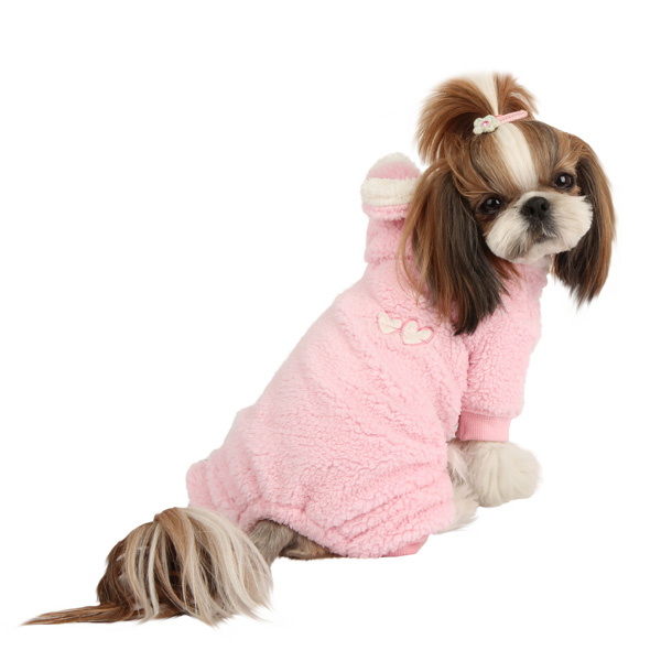 Lullaby Hooded Dog Jumpsuit by Pinkaholic - Pink