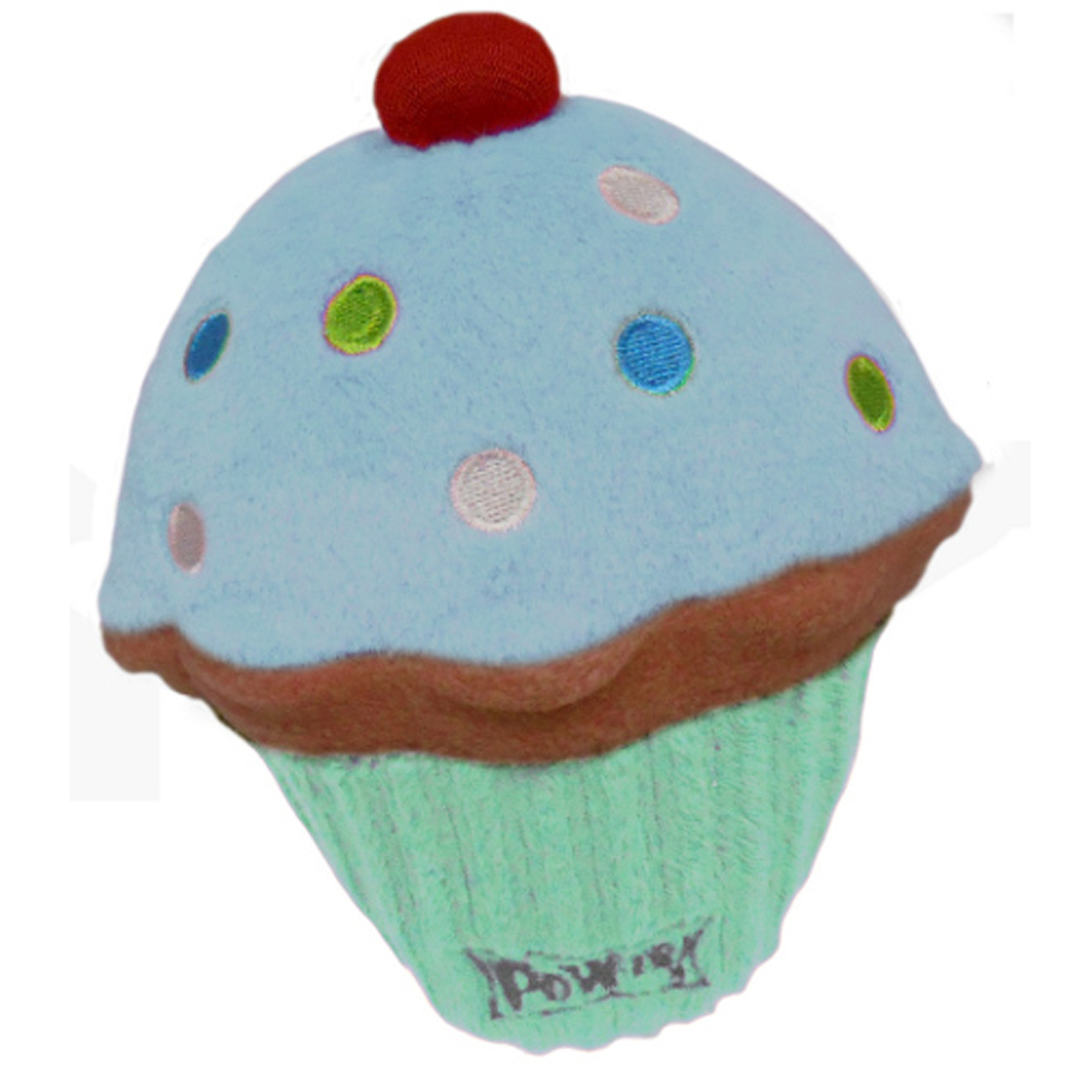 The Lulubelles Power Plush Dog Toy Blue Pupcake will be a sweet time ...