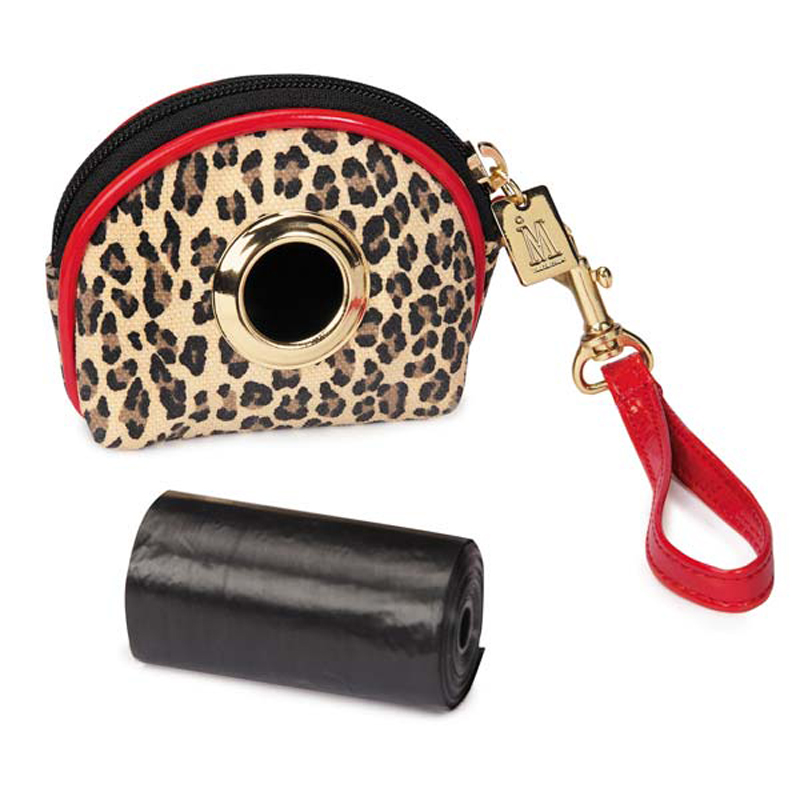 M. Isaac Mizrahi Leopard Dot Waste Bag Holder
