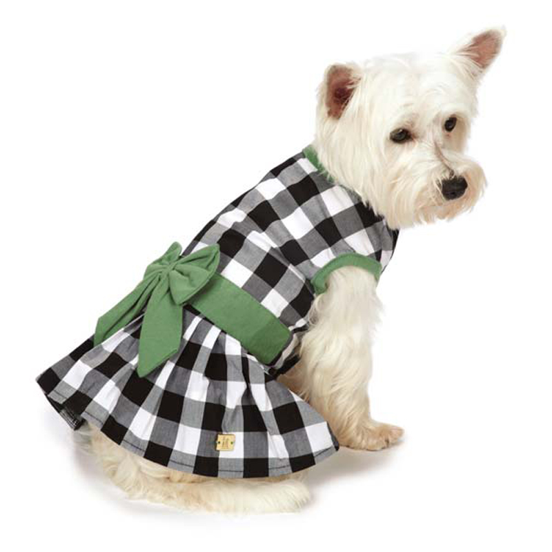 M. Isaac Mizrahi Gingham Bow Dog Dress