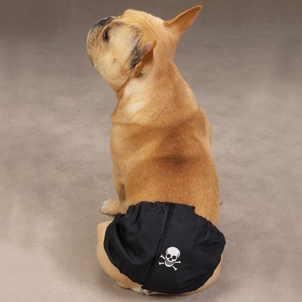 Male K-9 Wraps - Black with Skull