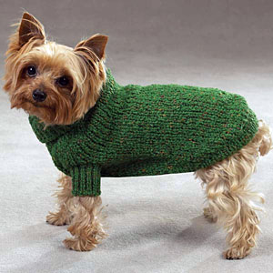 Knitting Pattern For Staffie Dog Coat : Marled Yarn Knit Dog Sweater - Green BaxterBoo