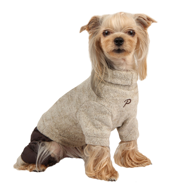 Meek Dog Jumpsuit by Puppia - Beige