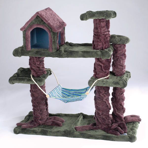 cat tree house meow town kitty treehouse hideaway cat playground baxterboo 29699