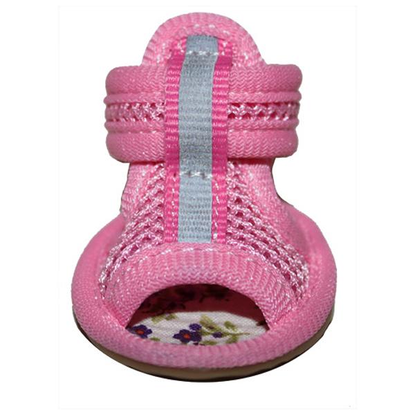 Mesh Dog Sandals - Pink
