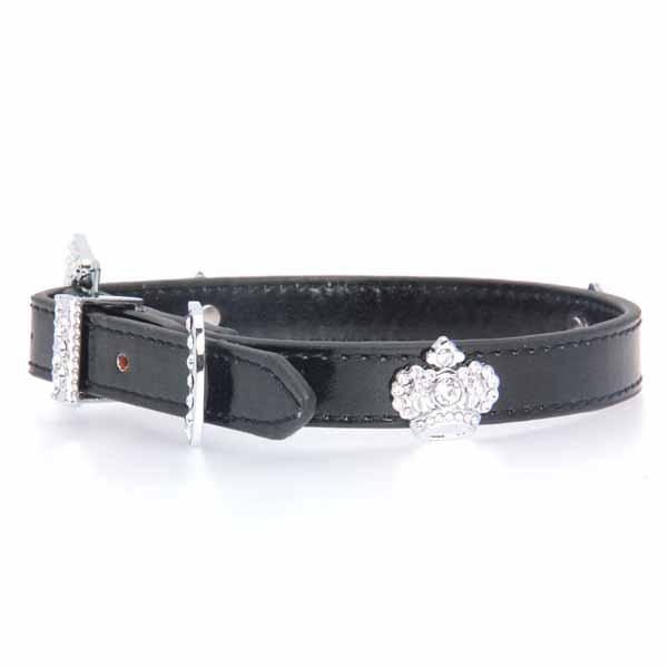 Metallic Black Royal Dog Collar