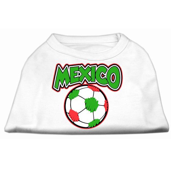 Mexico Soccer Print Dog Shirt - White