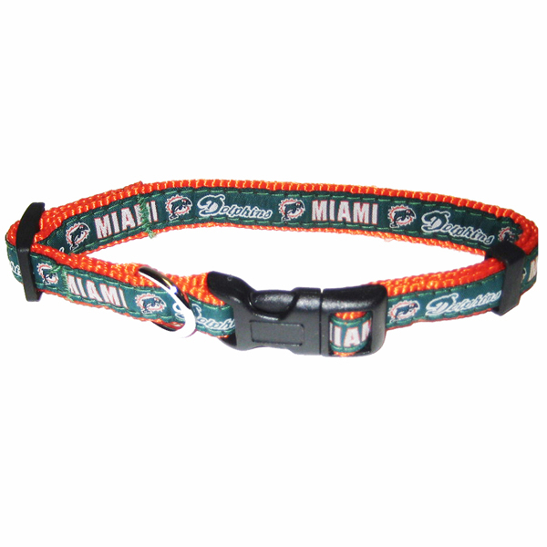 Miami Dolphins Officially Licensed Dog Collar