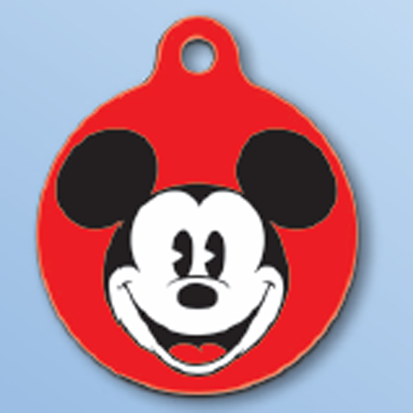 Mickey Mouse QR Code Pet ID Tag