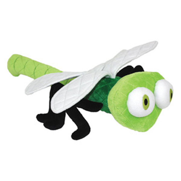 Mighty Bug Dog Toy - Dizzy the Dragonfly - Green