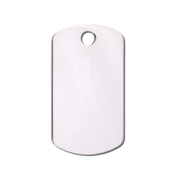 Military Small Engravable Pet I.D. Tag - Chrome
