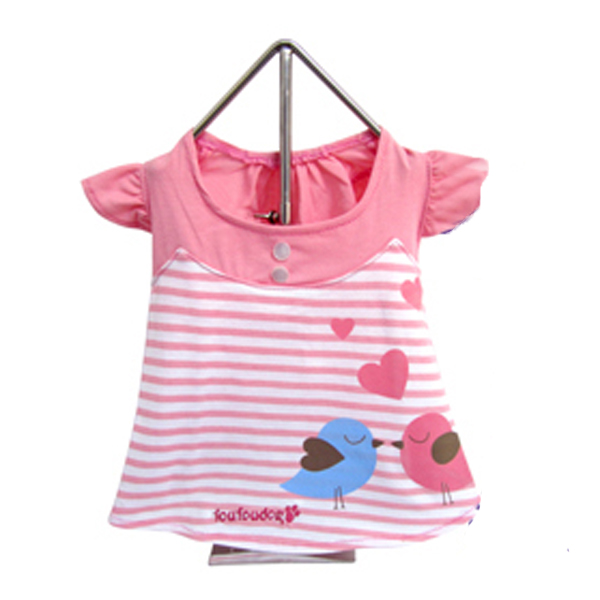Miss Lovebird Dog Dress - Pink