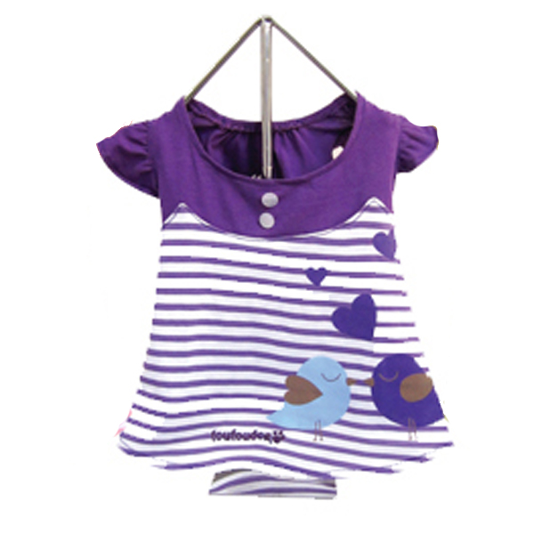 Miss Lovebird Dog Dress - Purple