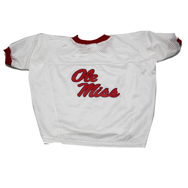 Mississippi Rebels Dog Jersey - Ole Miss White