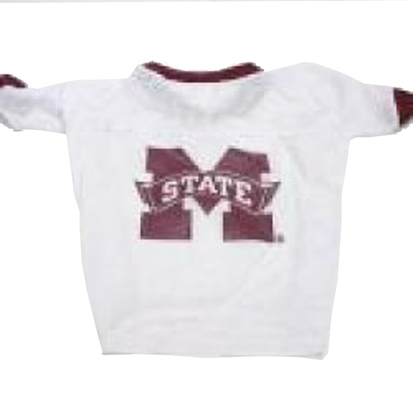 Mississippi State Bulldogs Dog Jersey - White