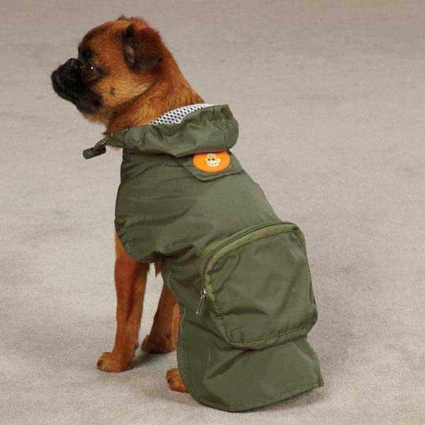 Monkey Business Stowaway Dog Rain Jacket - Ty