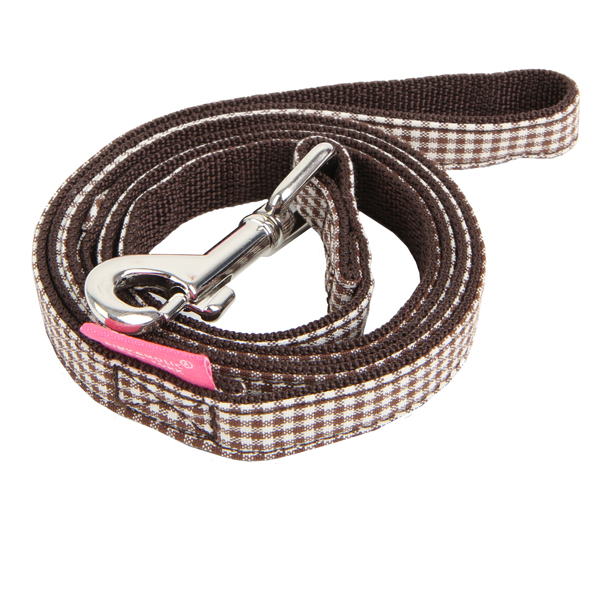 Motley Dog Leash by Pinkaholic - Brown