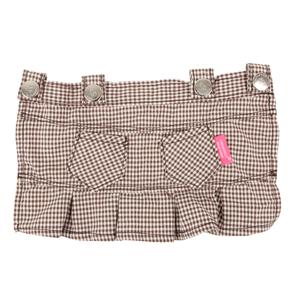 Motley Dog Skirt by Pinkaholic - Brown