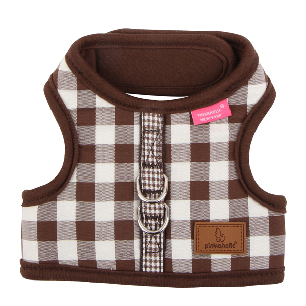 Motley Pinka Dog Harness by Pinkaholic - Brown