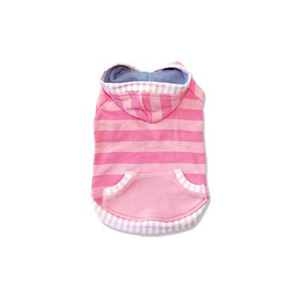 Multi Stripe Dog Hoodie by Dogo - Pink