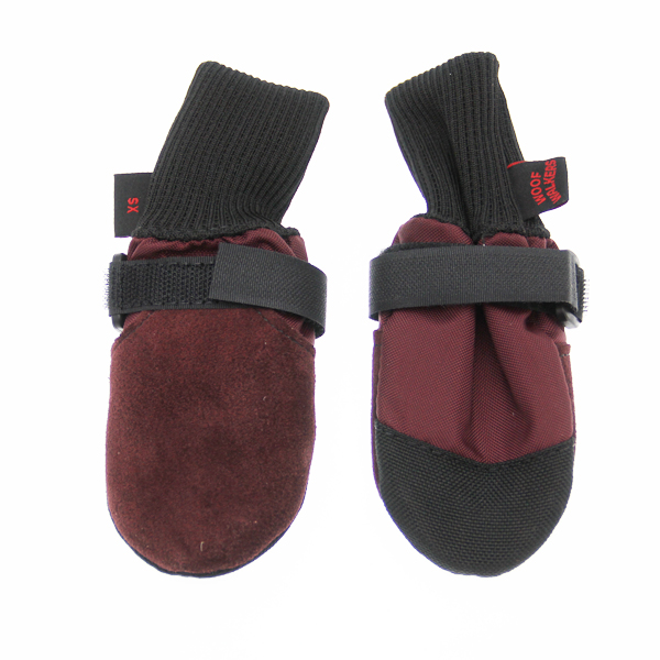 Muttluks Woof Walkers Dog Boots - Burgundy