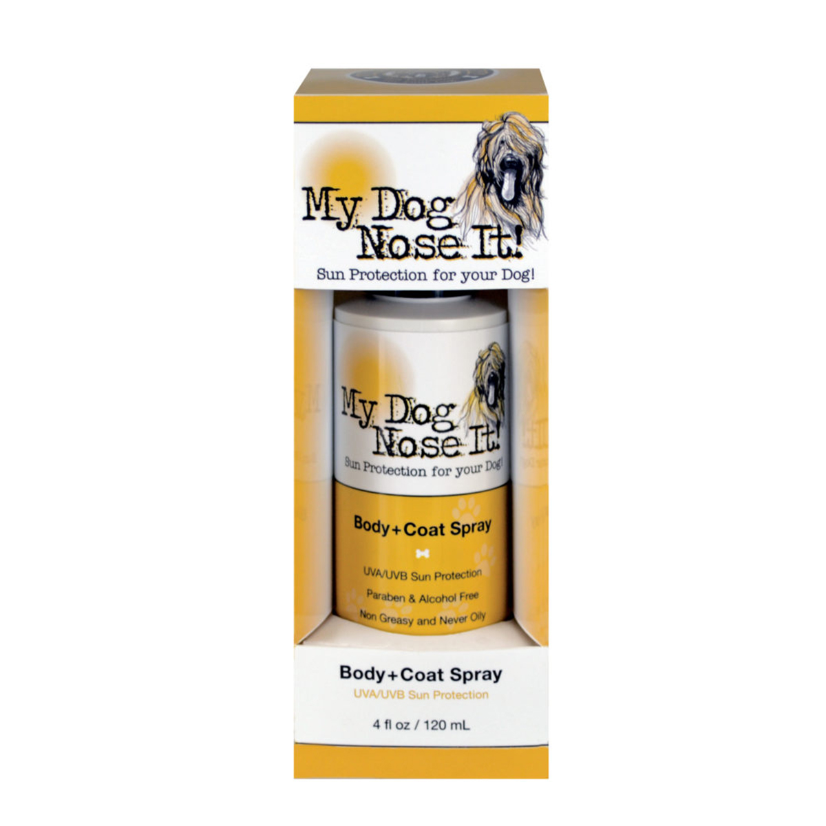 My Dog Nose It Body Coat Spray Dog Sun Protection