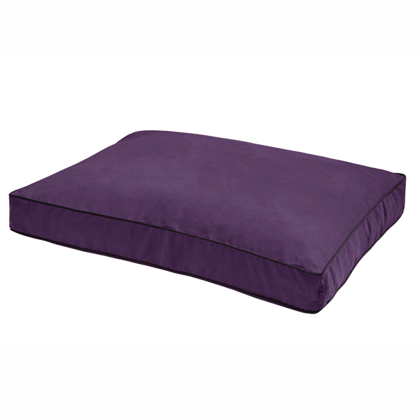 NanoSuede Dog Bed by Dog Gone Smart - Plum