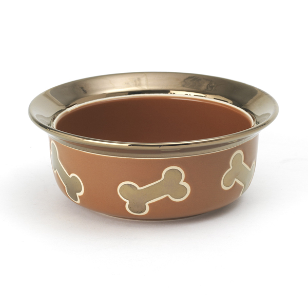 Napa Matte Metallic Dog Bowl - Copper