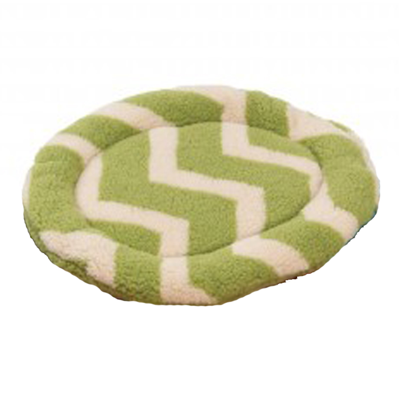 Nature Nap Oval Pet Bed - Moss Chevron