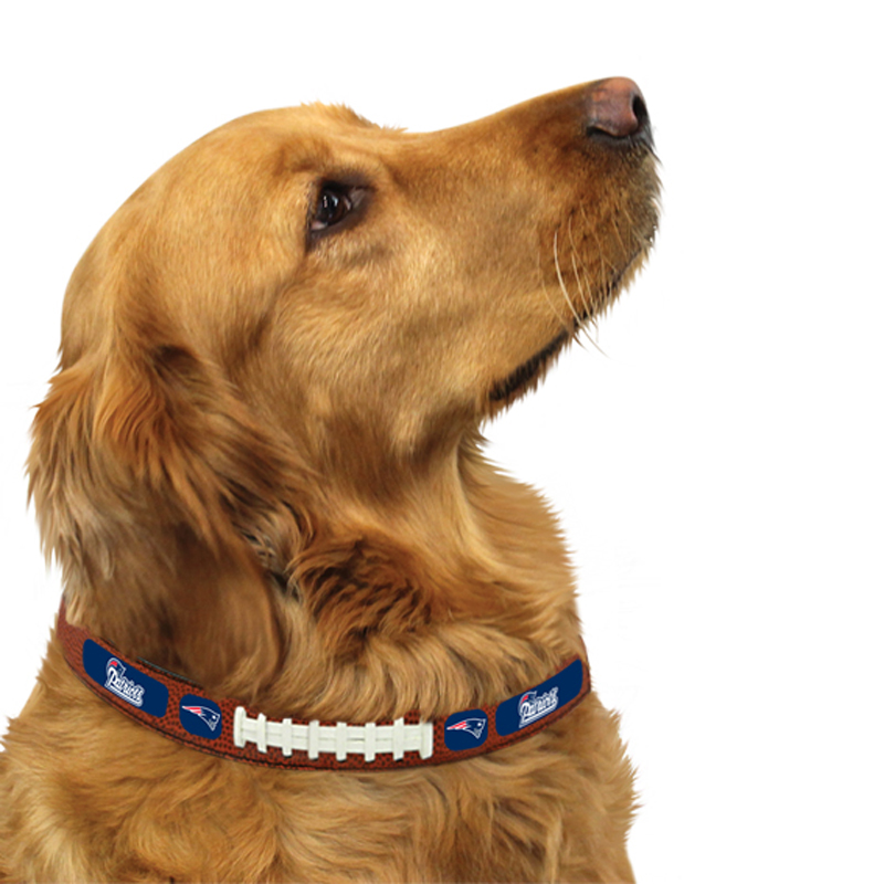 New England Patriots Leather Dog Collar