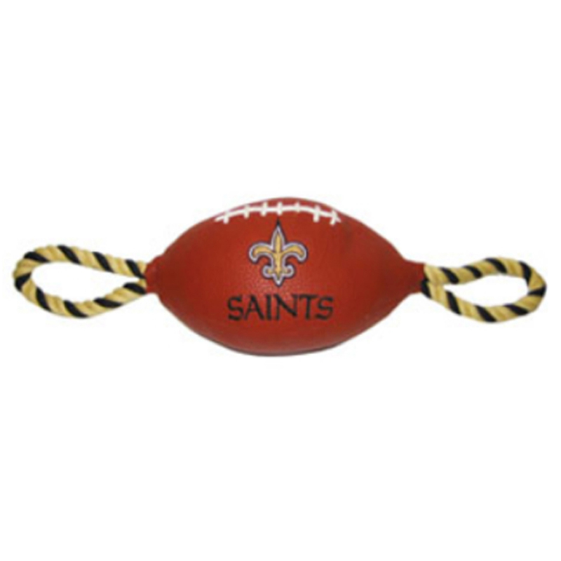 New Orleans Saints Pebble Grain Football Dog Toy