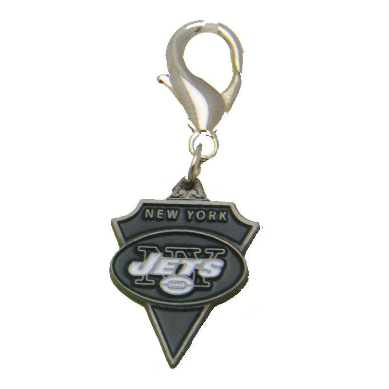 New York Jets Pennant Dog Collar Charm