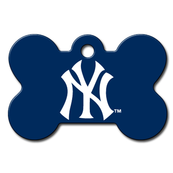 New York Yankees Engravable Pet I.D. Tag - Bone